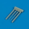 Accessory for plastic models - F-16C Fighting Falcon Pitot tubes