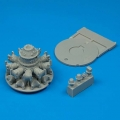 Accessory for plastic models - F4U-7 Corsair engine