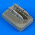 Accessory for plastic models - Hurricane Mk. I early exhaust