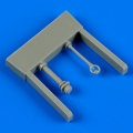 Accessory for plastic models - Gloster Gladiator control lever & compass