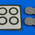 Accessory for plastic models - Gloster Gladiator wheels & paint masks