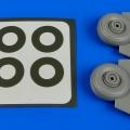 Accessory for plastic models - C-47 Skytrain wheels & paint masks