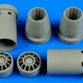 Accessory for plastic models - F/A-18E/F Super Hornet exhaust nozzles - opened