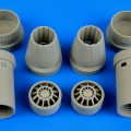 Accessory for plastic models - F/A-18E Super Hornet exhaust nozzles - opened
