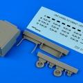 Accessory for plastic models - USAF 2-wheel tilt cabinet - late