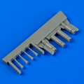 Accessory for plastic models - F4U-5 Corsair night gun barrels