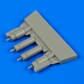 Accessory for plastic models - F4U-5 Corsair gun barrels with pylons