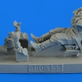 Accessory for plastic models - Soviet Woman Gunner WWII with seat for Po-2