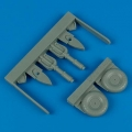 Accessory for plastic models - Junkers Ju 87 Stuka uncovered wheels