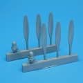 Accessory for plastic models - B-25 Mitchell propellers
