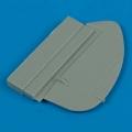Accessory for plastic models - Spitfire Mk.IX broad chord rudder