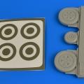 Accessory for plastic models - MiG-21 wheels & paint masks