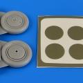 Accessory for plastic models - I-153 Chaika wheels & paint masks