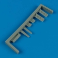 Accessory for plastic models - P-40 warhawk undercarriage covers
