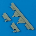 Accessory for plastic models - A6M5 Zero undercarriage covers