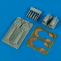 Accessory for plastic models - P-38J Lightning update turbo & air intakes
