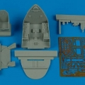 Accessory for plastic models - F4U-7 Corsair cockpit set