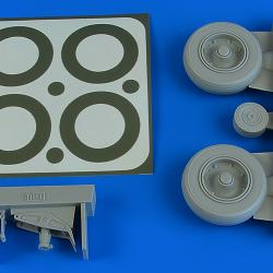 A-1J Skyraider wheels & paint masks